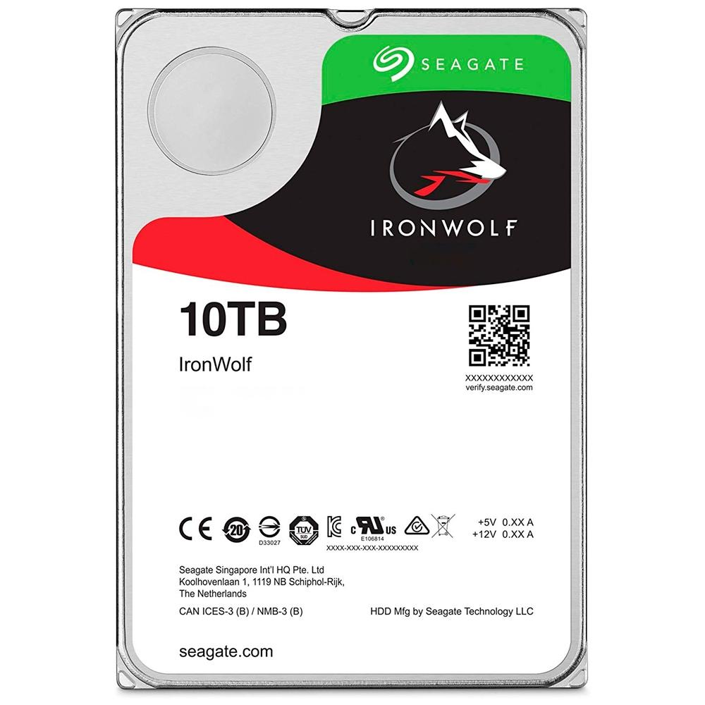 Hd 10Tb Sata 3(Nas)Seagate-Iron Wolf-St10000Vn0008