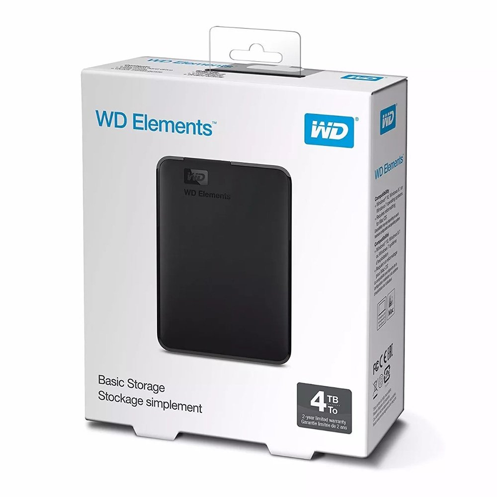 Hd Ext Usb 4Tb W.digital-Wd Elements 3.0 Preto