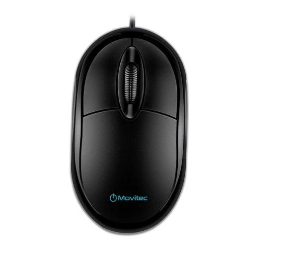 Mouse Optico Usb Omfc-01 Movitec Preto