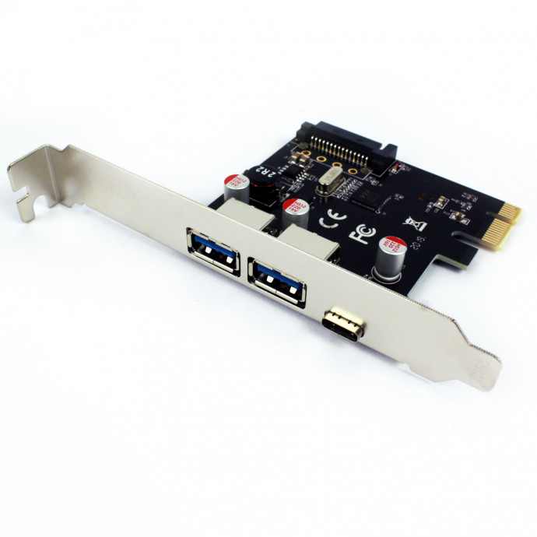 Placa Pci-E 2 Portas Usb 3.0 + Type-C  Dp-33 Dex