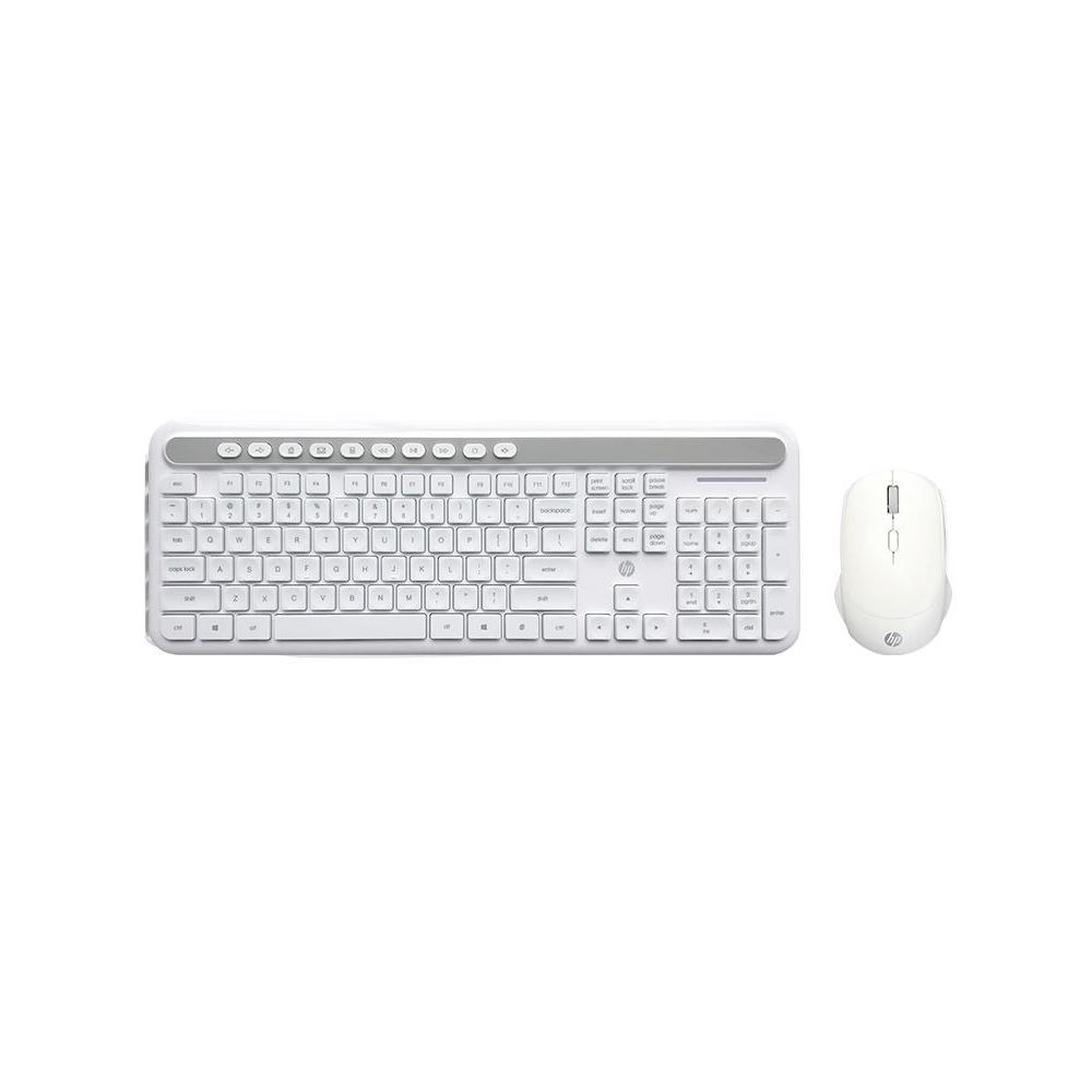 Kit Tec ,  Mouse Wireless Hp Cs500  Branco