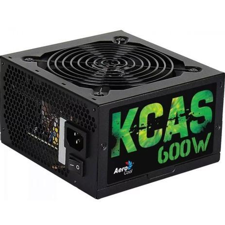 Fonte 600W Real  Aerocool Kcas 600W Full Range