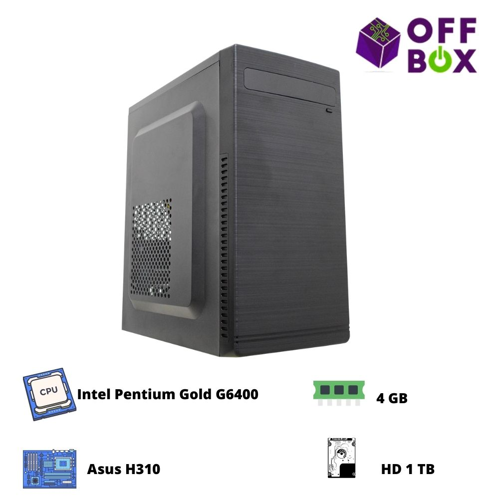 Desktop Offbox Home G6400 Asus H310,  4Gb,  Hd 1Tb