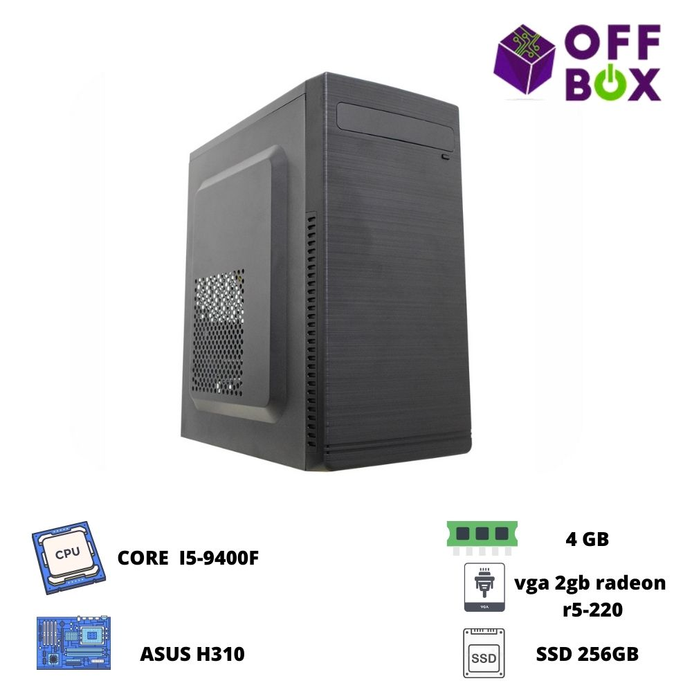 Desktop Offbox Corp I5-9400F, Asus H310, 4G, Ssd256