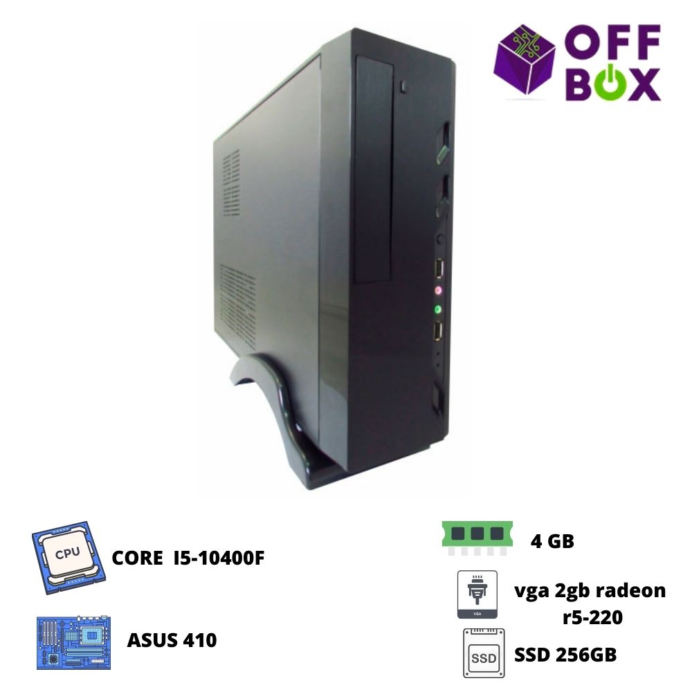 Desktop Offbox Corp S I5-10400F , Asus410, 4G, Ssd256