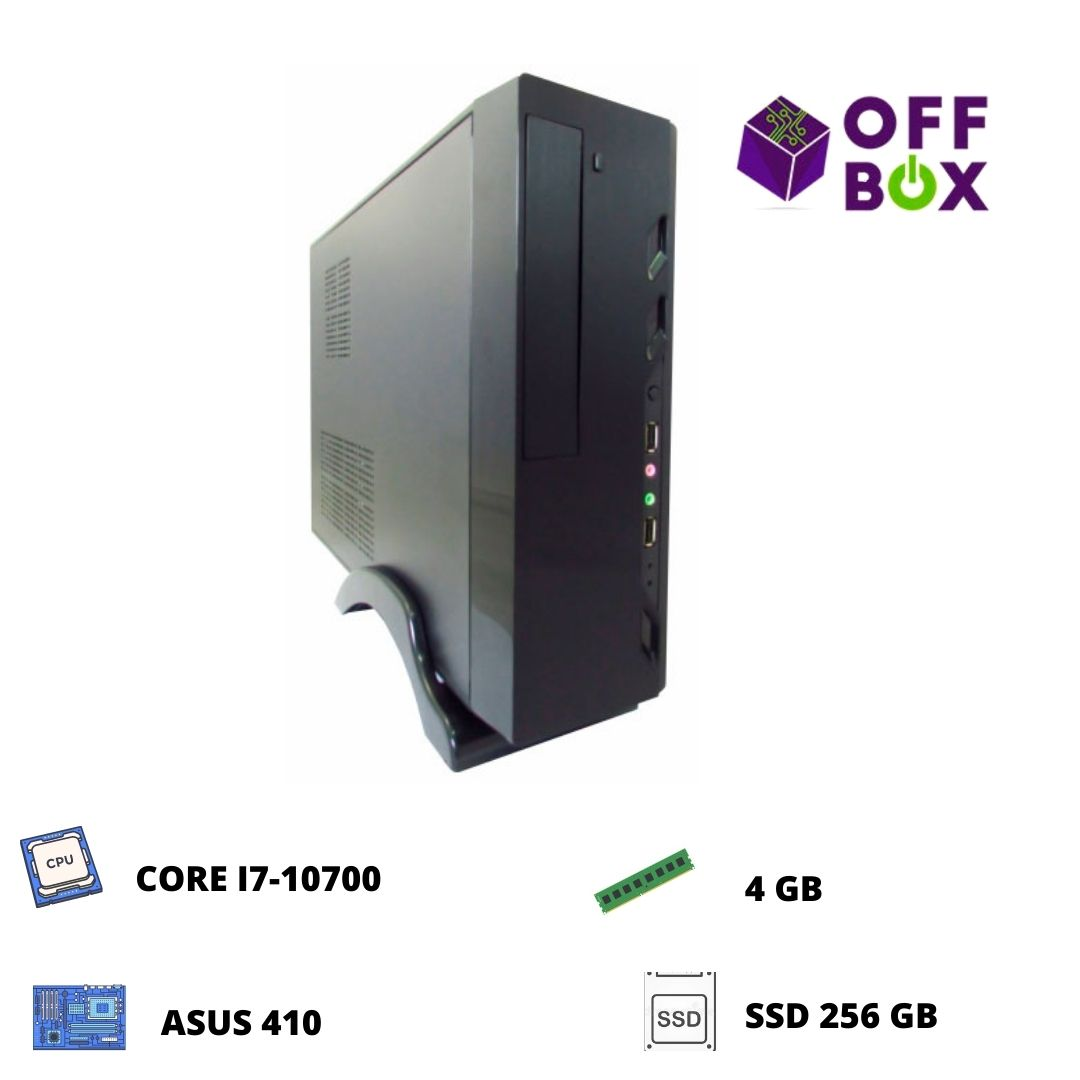 Desktop Offbox Corp S I7-10700 , Asus 410, 4G, Ssd256