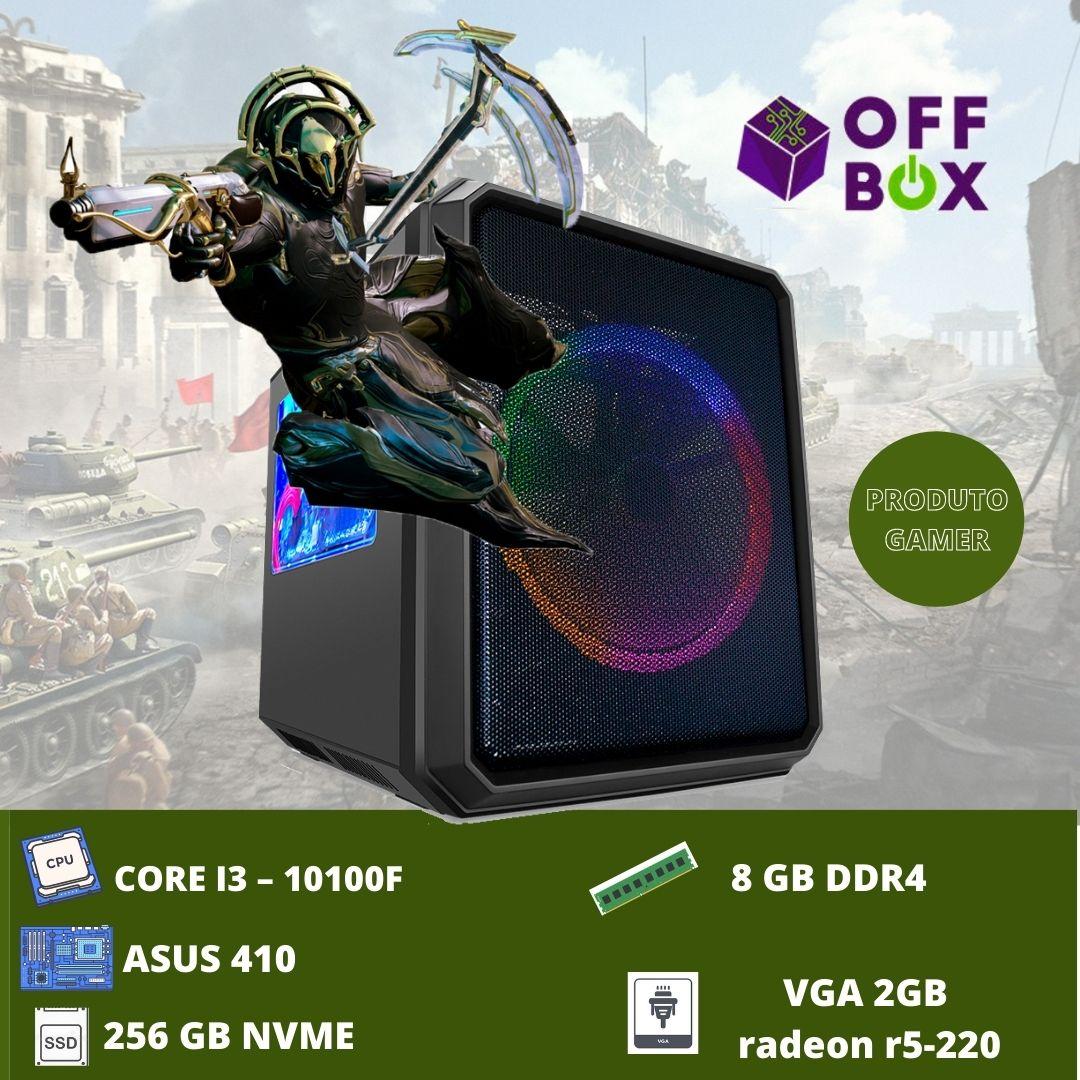 Desktop Offbox Gamer I3-10100F Cubo