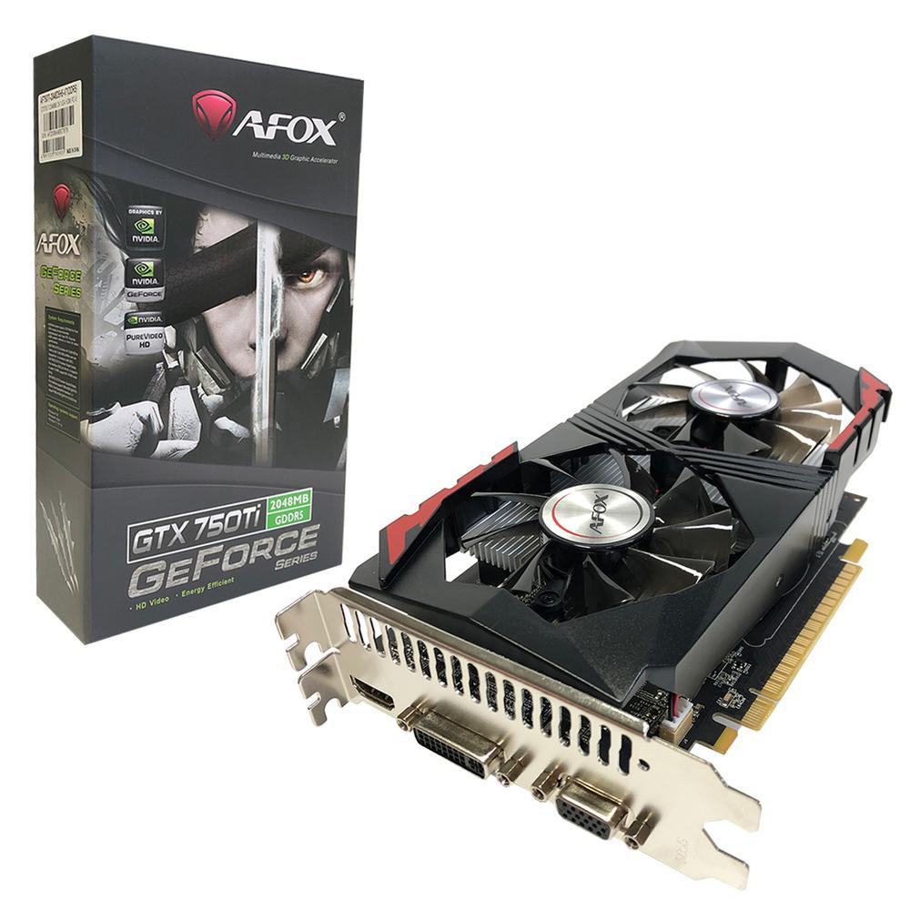 Placa De Video Pci-E 2Gb Afox Geforce Gtx750-Ti- 128Bit Gddr5