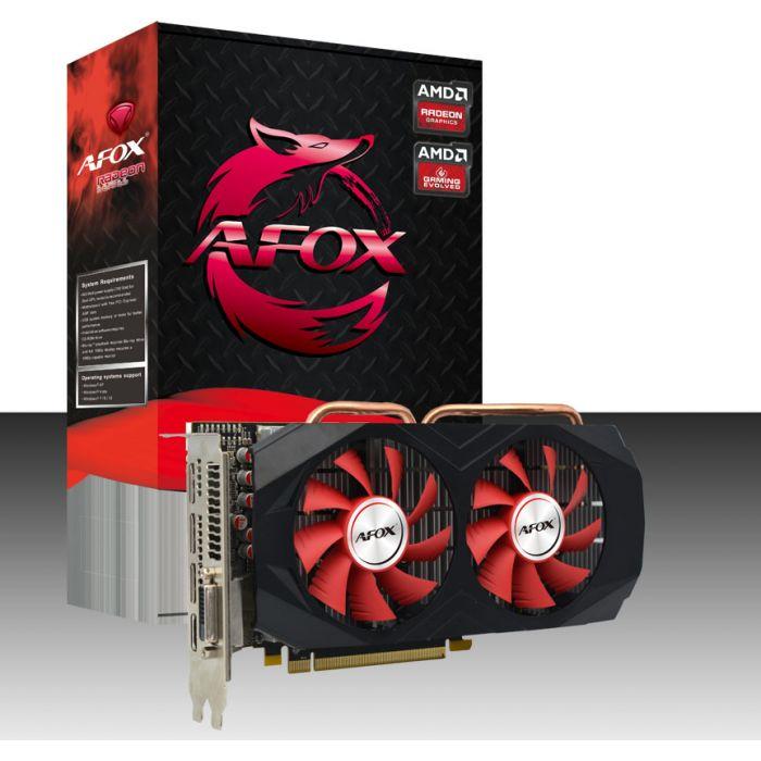 Placa De Video Pci-E 8Gb Afox Radeon Rx-580 Gddr5-256Bits